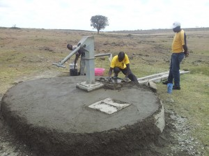 Repairing broken hand-pumps.