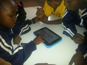 Learning maths on a tablet