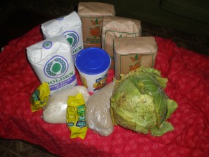 Food parcel to each family