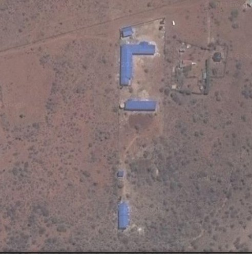 Satellite image of the school.