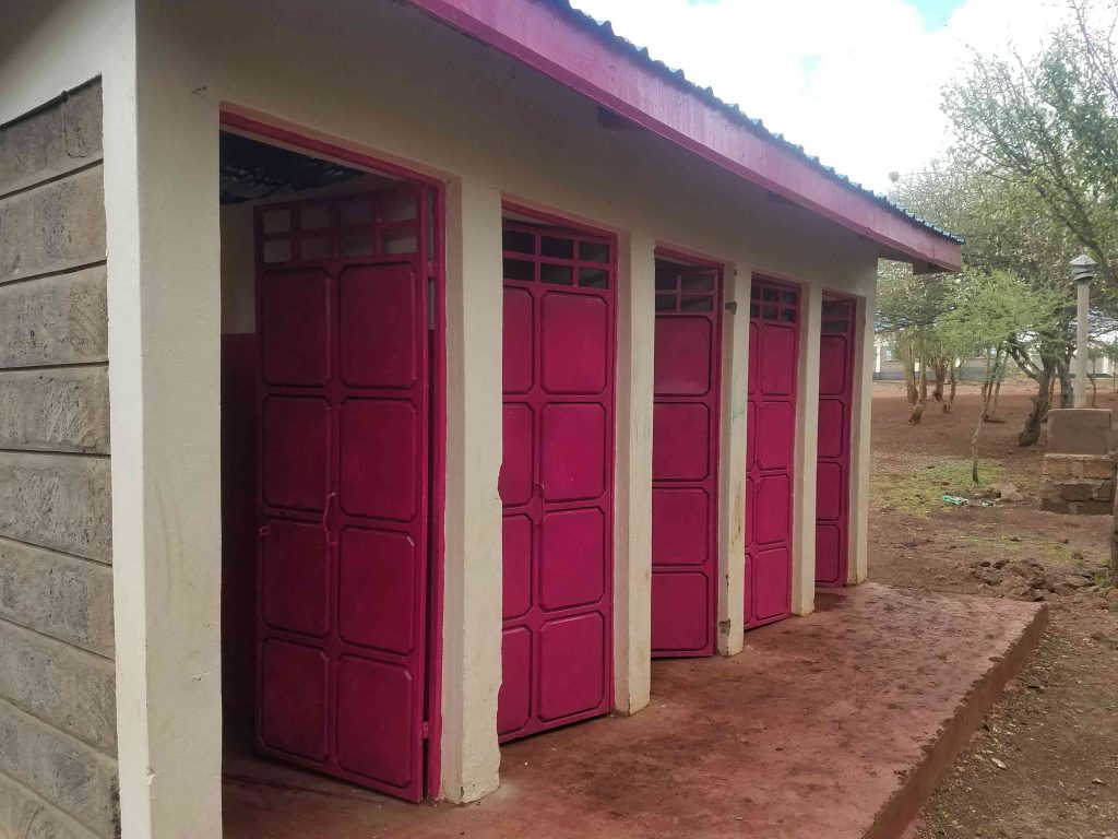 The older girls' toilet block.